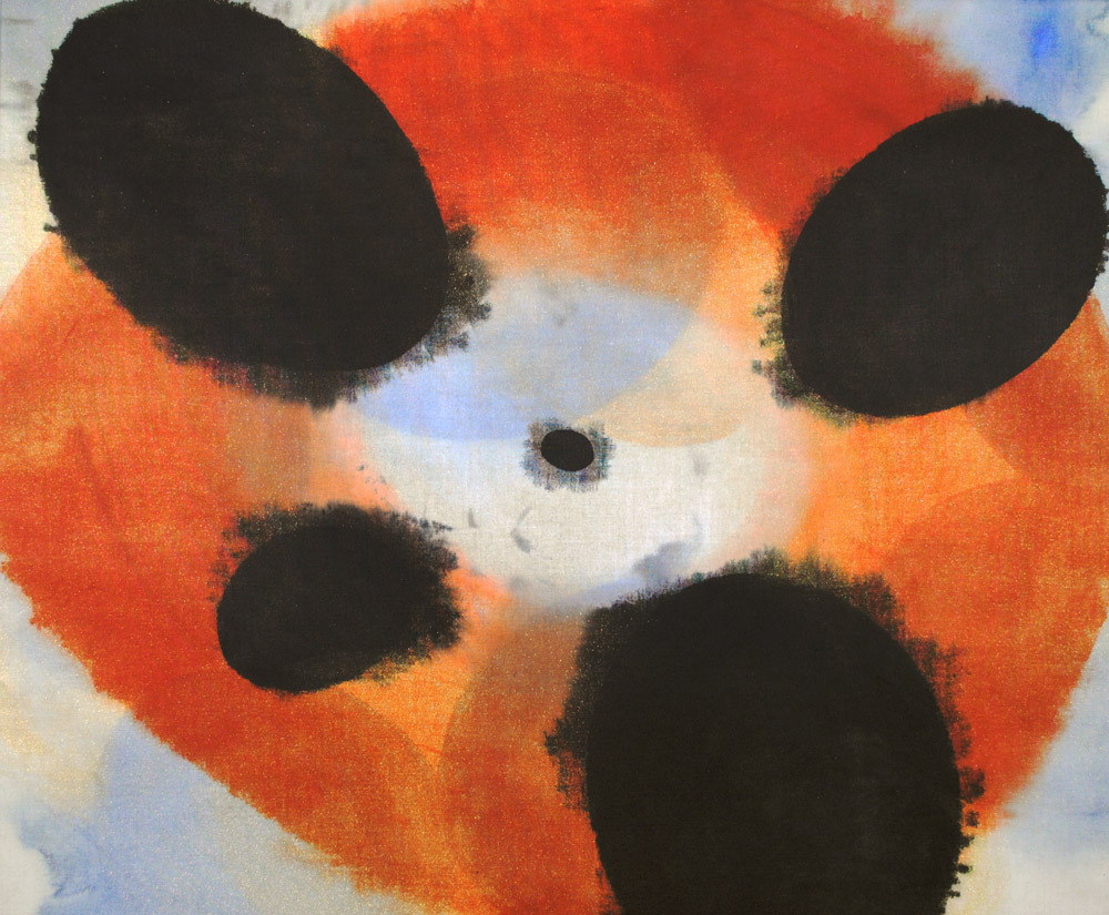 dot, dots, universe, interaction, relations, forms, shapes, red, black, orange, circle