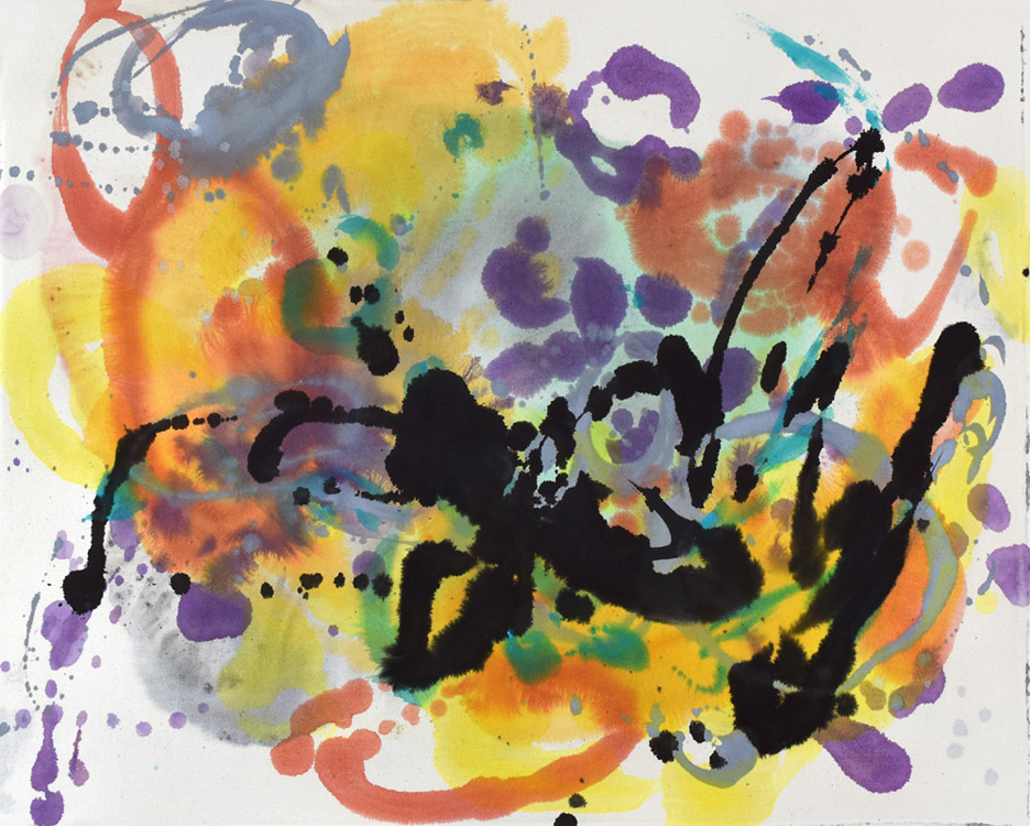 gestures, Pollock, modern chinese painting, brush marks, dots, Helen Frankenthaler, abstract expressionist, energy, force, brush mark