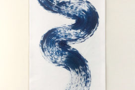 brush mark, line, snake, naga, myth, blue, indigo, symbol, dragon painting