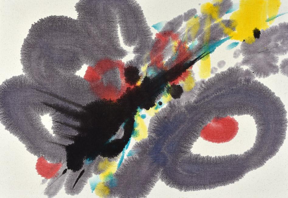 gestures, Pollock, modern chinese painting, brush marks, dots, Helen Frankenthaler, Miro, Pollock, abstract expressionist, energy, joy, brush mark, indigo