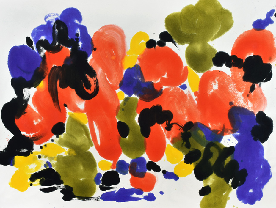 kinetics, movement, energy, color and form, dots, brush, joy, colors, Abstract Expressionism, light, clouds, orange, blue, joy