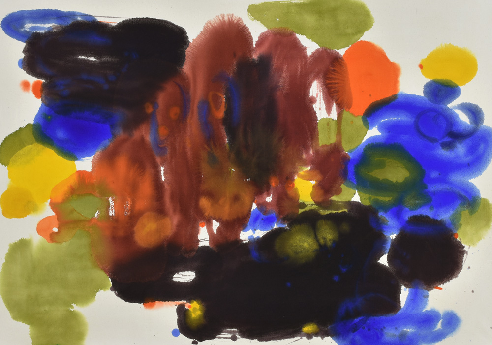 color and form, dots, circles, joy, colors, Abstract Expressionism, light, clouds, orange, blue, joy