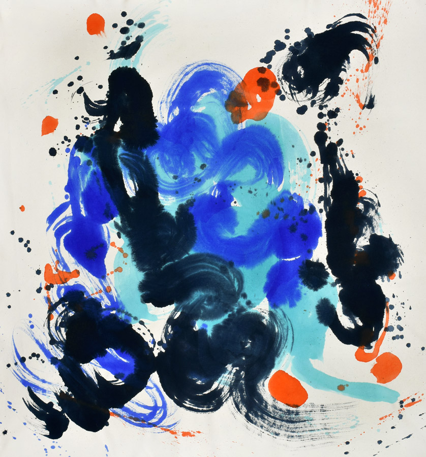 kinetics, movement, energy, color and form, marks, Naga, Myth, energy, blue, brush, joy, colors, Abstract Expressionism, light, navy, joy