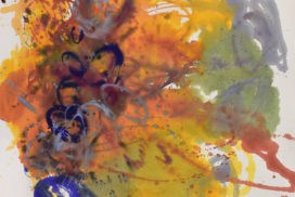 gestures, Pollock, bleeding effect, modern chinese painting, brush marks, dots, Helen Frankenthaler, abstract expressionism, energy, force, brush mark