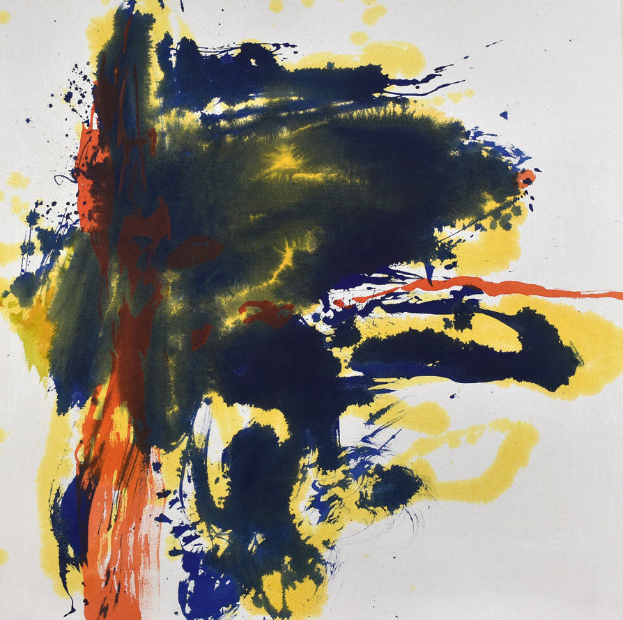 bleeding effect, modern chinese painting, brush marks, dots, Helen Frankenthaler, abstract expressionism, energy, force, brush mark