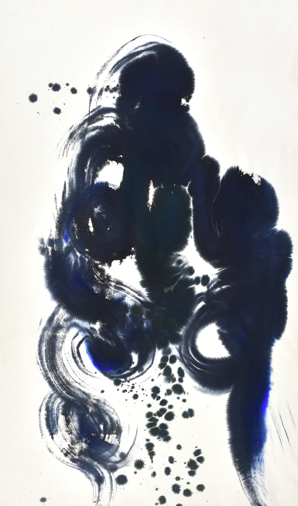 kinetics, movement, energy, color and form, marks, brush, joy, colors, Abstract Expressionism, light, navy, joy