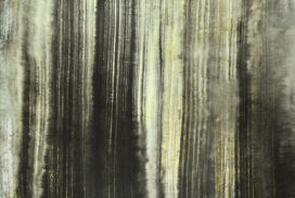 waterfall, running water, falling water, gold painting, modern chinese painting, force, power
