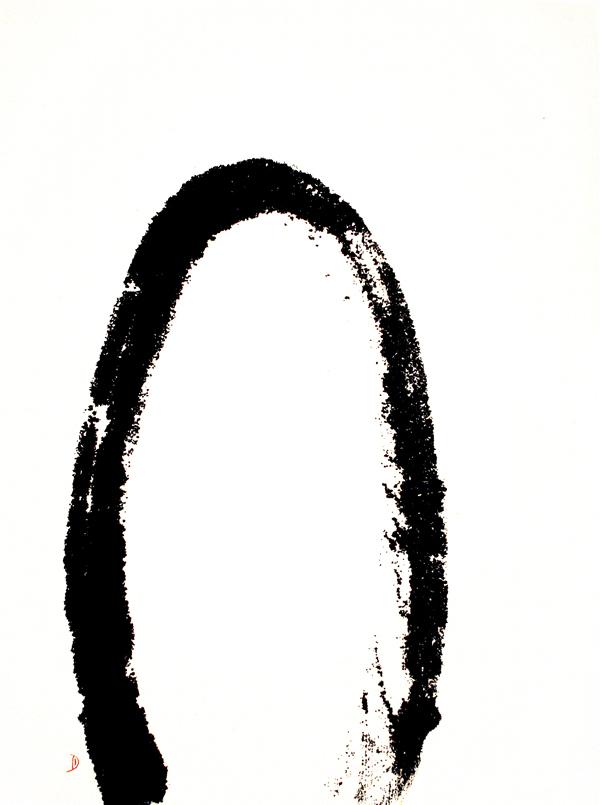 halfmoon, circle, zen, black and white, symbol