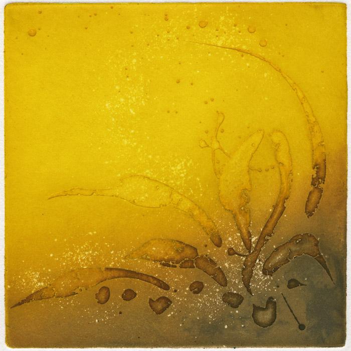 symbol, yellow, ochre, brush work, line work
