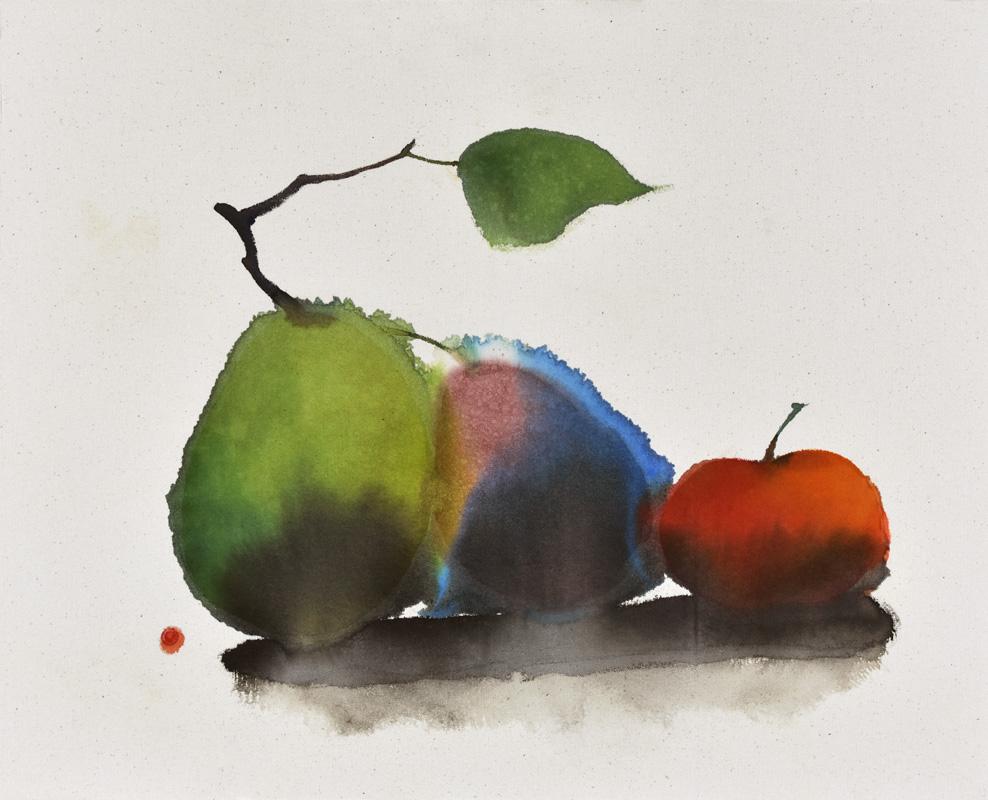 fruits, still life, space, minimal, minimalist, Morandi, colors, forms