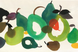 pear, fruits, still life, Matisse, pattern, colors