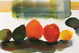 still life, fruit, modern motif, minimal, design, Morandi, Matisse, colors
