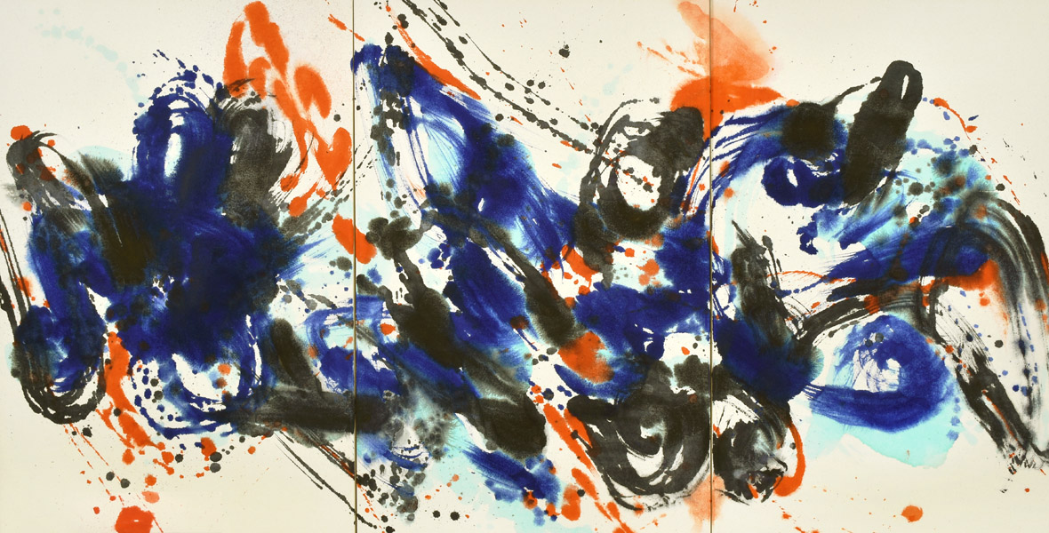 Kinesis, movement, energy, color and form, dots, brush, joy, colors, Abstract Expressionism, light, Pollock, orange, blue, joy