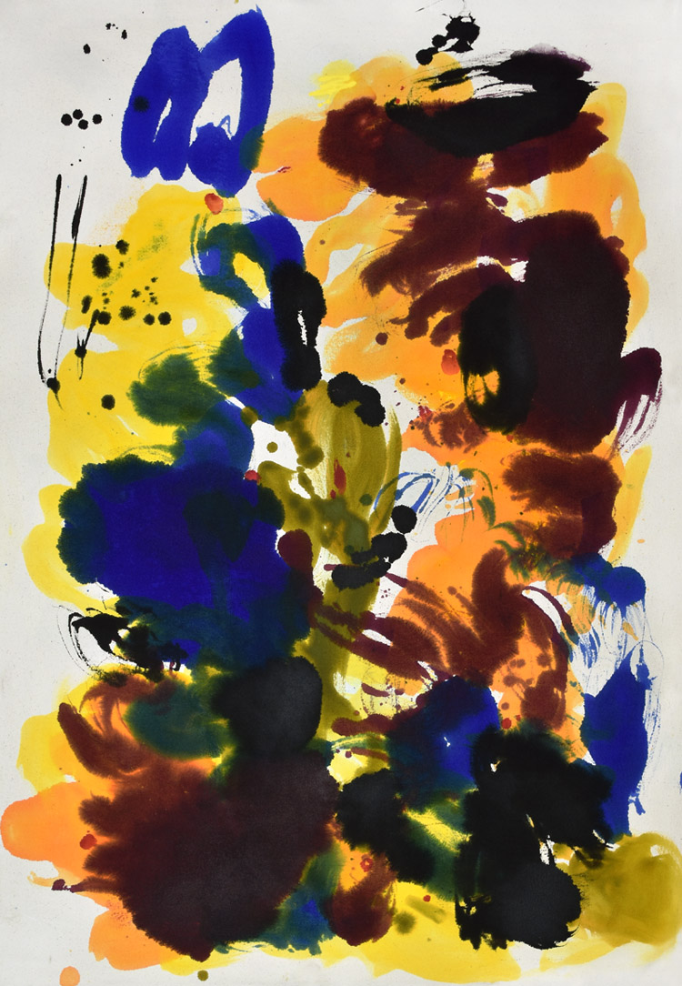 Kinesis, movement, energy, color and form, brush, joy, colors, Abstract Expressionism, light, Pollock, orange, blue, joy