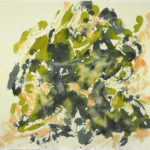 green gold, gold, force, movement, richness, momentum, abstract expressionism, Pollock
