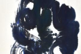 indigo, navy, kinetics, movement, energy, color and form, marks, brush, joy, colors, Abstract Expressionism, light, blue, joy