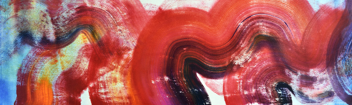Kinesis, movement, energy, color and form, brush, joy, colors, Abstract Expressionism, light, Pollock, orange, red, joy