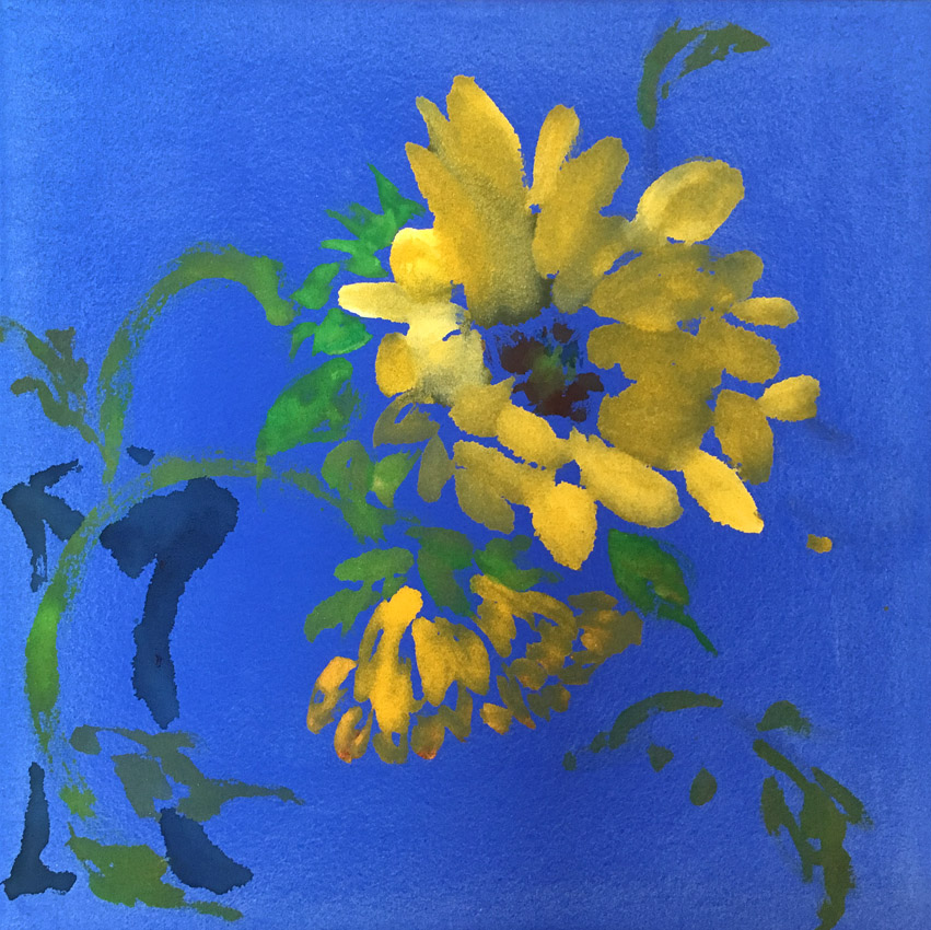 mark making, abstract expressionism, color field, brush mark, yin and yang, nature, plant, spring, seasons, wisteria, modern Chinese art, kinesis, gestural painting, sunflower, sun, nature, minimalism